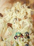 Alternate image of Court by Norman Lindsay