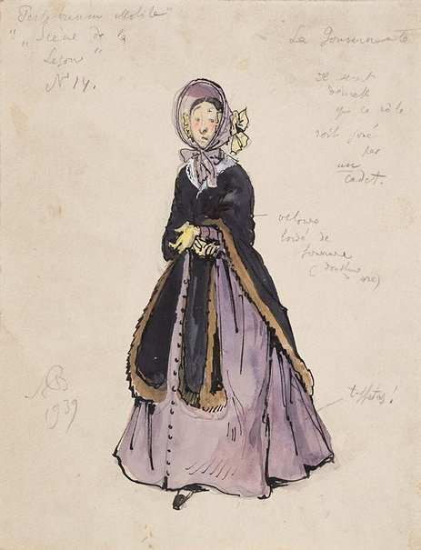 An image of Costume study for Graduation Ball by Alexandre-Nikolayevich Benois