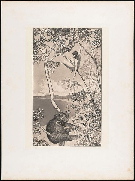 An image of Bear and elf by Max Klinger
