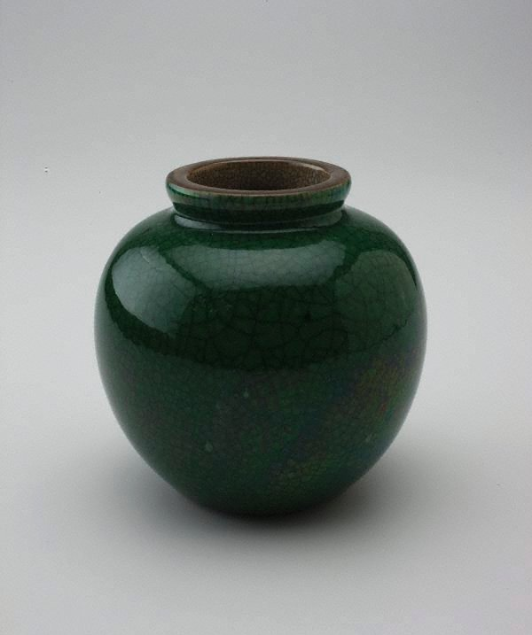 An image of Apple green crackle bowl