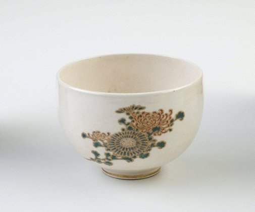 An image of Bowl with design of flowers by TANZAN, Satsuma ware