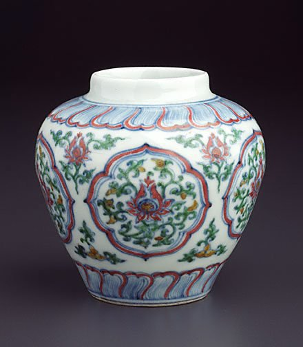 An image of Jar with five quatrefoil panels