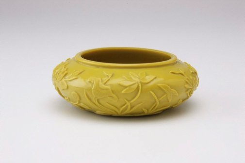 An image of Bowl decorated with peonies by