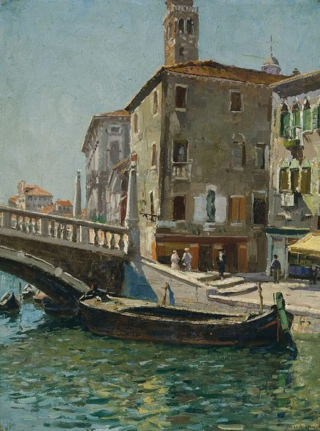 An image of Canal Labia, and Ponte a Fianco II, Venice, Italy by Will Ashton
