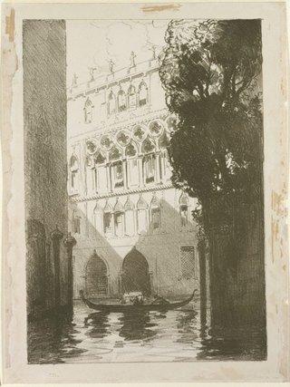 AGNSW collection Arthur Streeton Canal scene, Venice 1912
