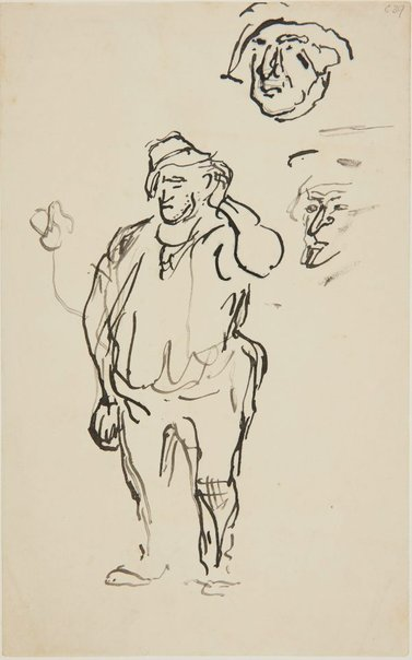 An image of C.C.C. worker scratching his head by William Dobell