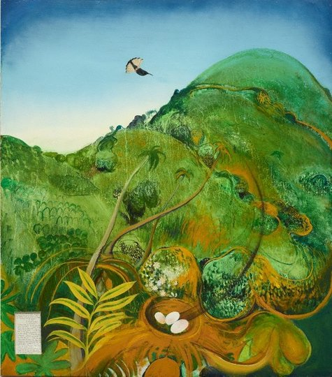 AGNSW collection Brett Whiteley The green mountain (Fiji) (1969) 7.1979
