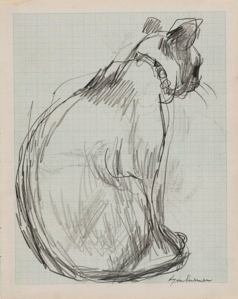 An image of Seated cat (Alannah Coleman's 'Shan') by Francis Lymburner