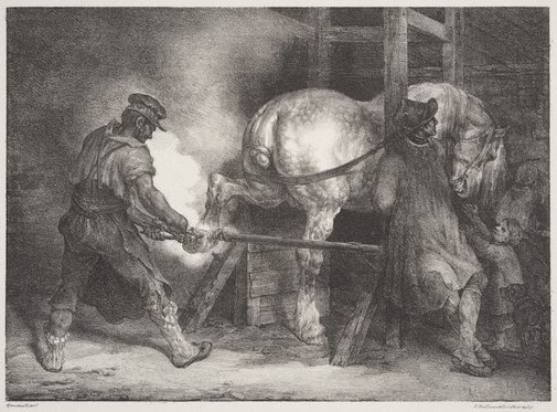 An image of The Flemish farrier by Théodore Géricault