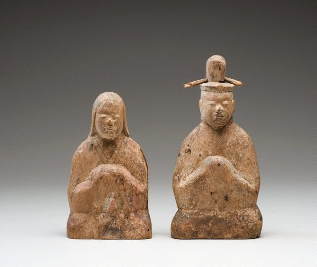An image of Male and female Shintô deities