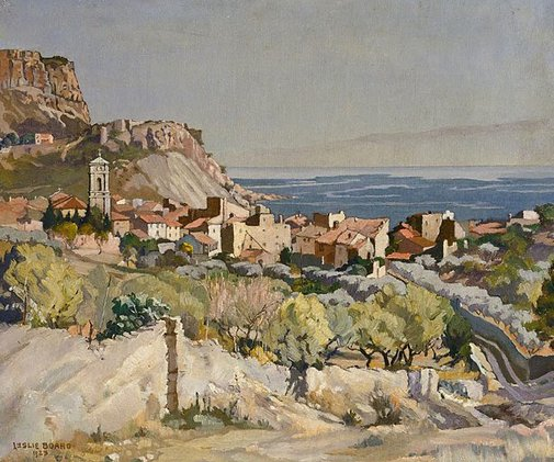 An image of The old town of Cassis by Leslie Richmond Board