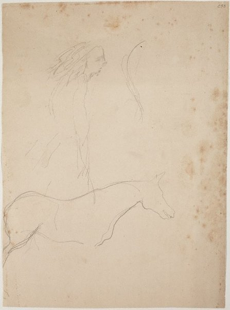 An image of (Girl and horse) (Early Sydney period) by William Dobell
