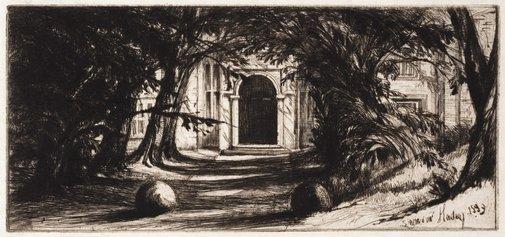 An image of Mytton Hall by Sir Francis Seymour Haden
