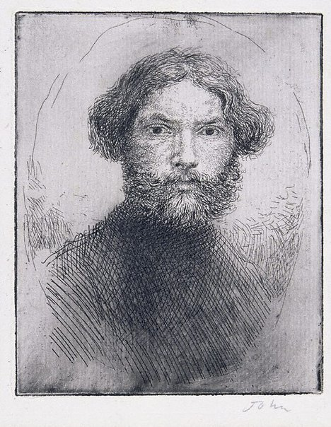An image of Portrait of the artist by Augustus John OM