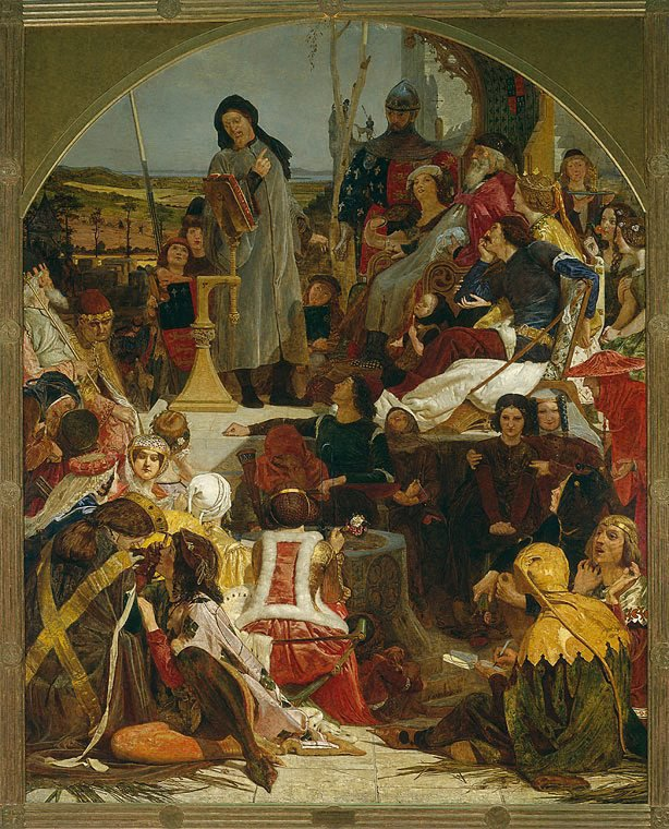 Chaucer at the court of Edward III, (1847-1851) by Ford Madox Brown
