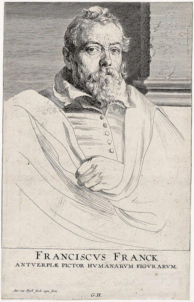 An image of Frans Francken the Younger by Sir Anthony van Dyck