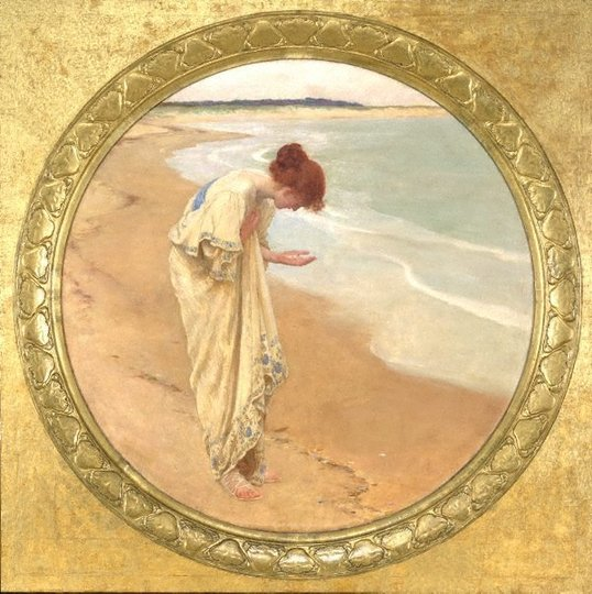 AGNSW collection William Henry Margetson The sea hath its pearls (1897) 705