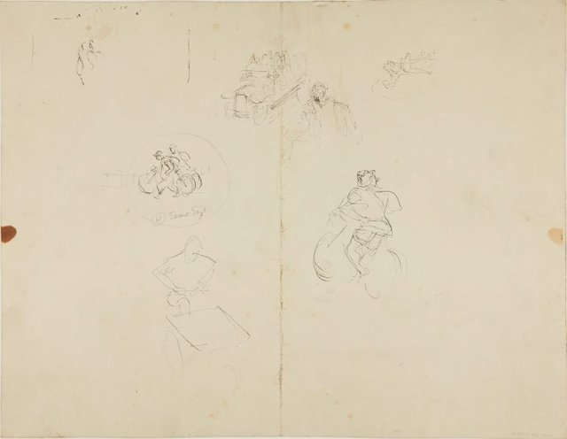 An image of (Figure studies, soldiers talking) (Early Sydney period)