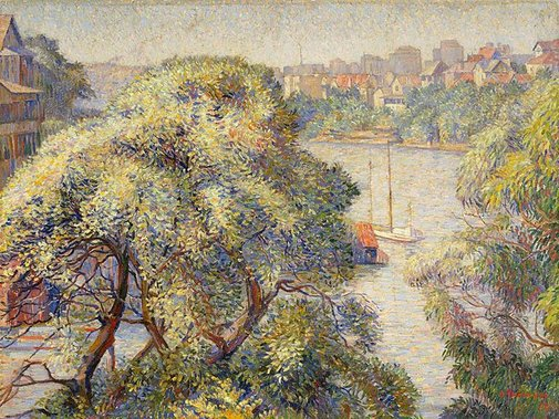An image of Morning at Cremorne by Dorothy Thornhill