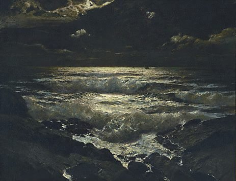 An image of The night tide by Julius Olsson