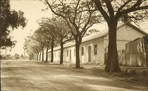An image of Old cottages Burra by Harold Cazneaux