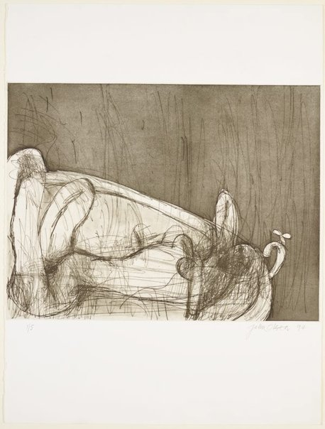 An image of Nude in the bath by John Olsen