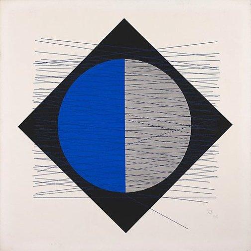 An image of (Black, blue, grey) by Jesus-Rafael Soto