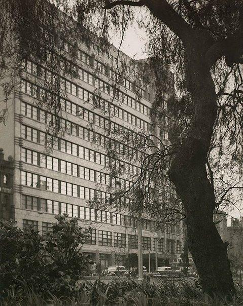 An image of Wynyard railway buildings by Harold Cazneaux