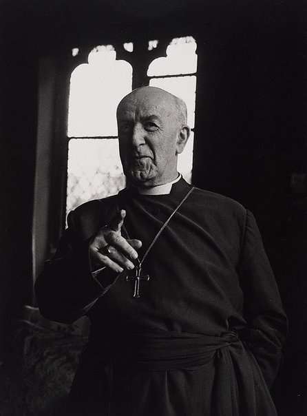 An image of Geoffrey Fisher, archbishop of Canterbury, London by Lewis Morley