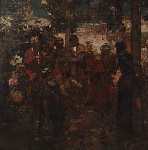 An image of The scoffers by Sir Frank Brangwyn