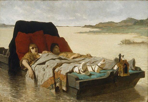 The sons of Clovis II, (1880) by Évariste Vital Luminais
