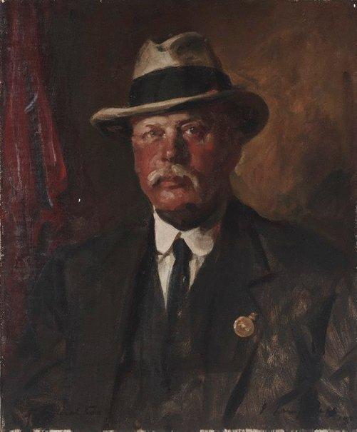 An image of Major General C.F. Cox CB CMG DSO VD by John Longstaff