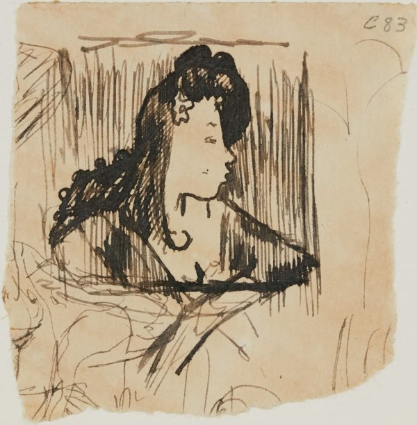 An image of (Portrait study of a woman) (Early Sydney period)
