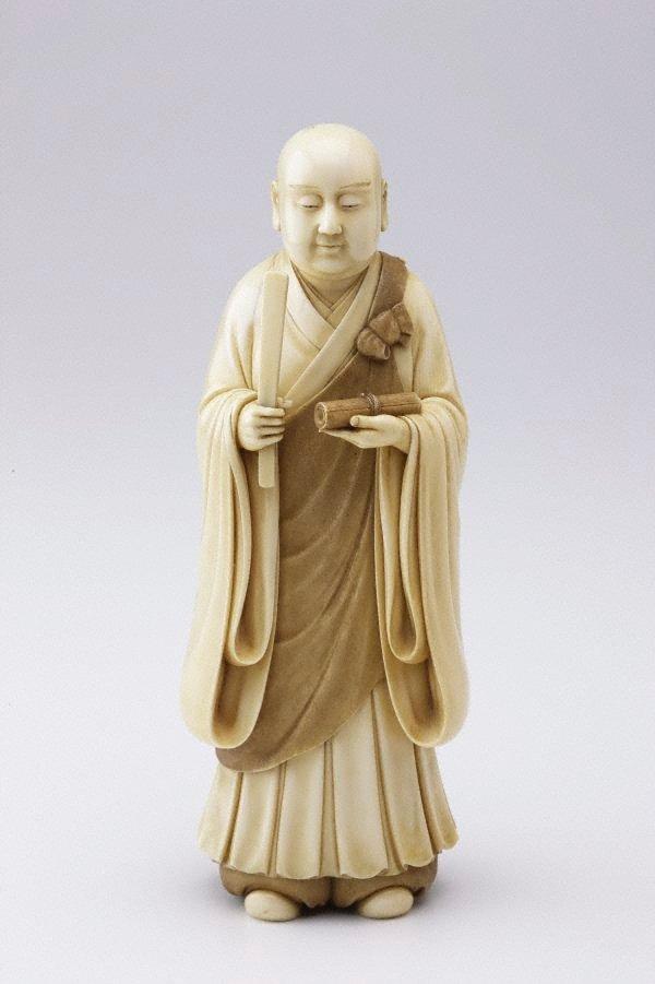 An image of Figure of a monk (okimono)