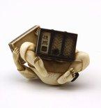 Alternate image of Woman opening a treasure box (okimono) by Homei
