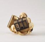 Alternate image of Opening a treasure box (okimono) by Homei