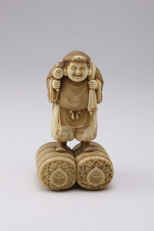 An image of Figure of Daikokuten (The God of Plenty) (okimono)