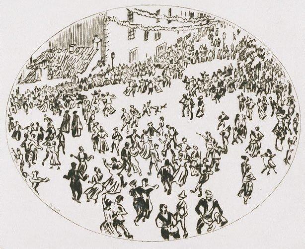 An image of Dancing on the Apostles' Day, Santiago de Compostela