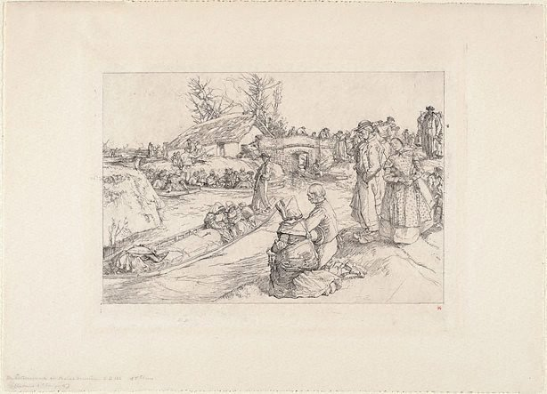 An image of A burial in the marshes