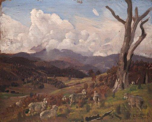 An image of Yarra Glen by George W Lambert