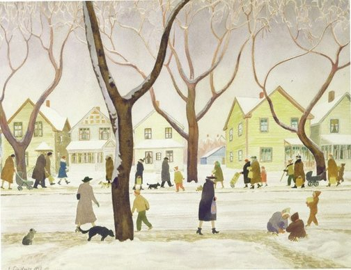 An image of Saskatoon by Ernest Lindner