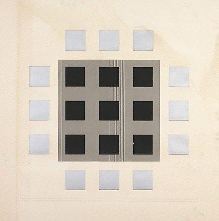 An image of (Grey, black squares)