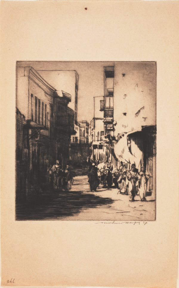 An image of A sunny street, Cairo