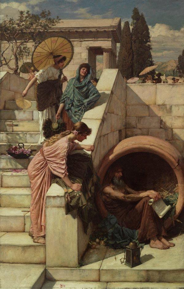 Diogenes, (1882) by John William Waterhouse