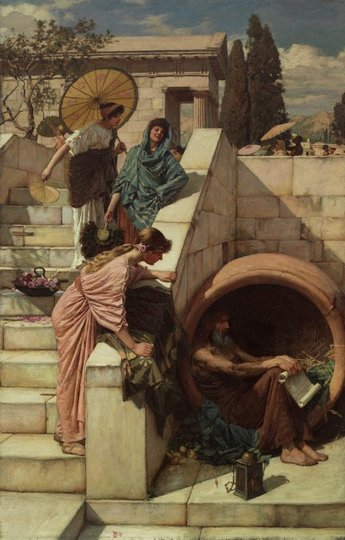 AGNSW collection John William Waterhouse Diogenes (1882) 720