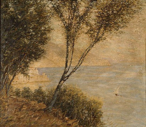 An image of Italian coast by Henry Herbert La Thangue