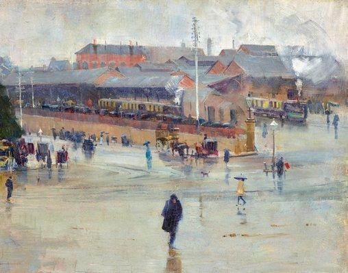 Alternate image of The railway station, Redfern by Arthur Streeton