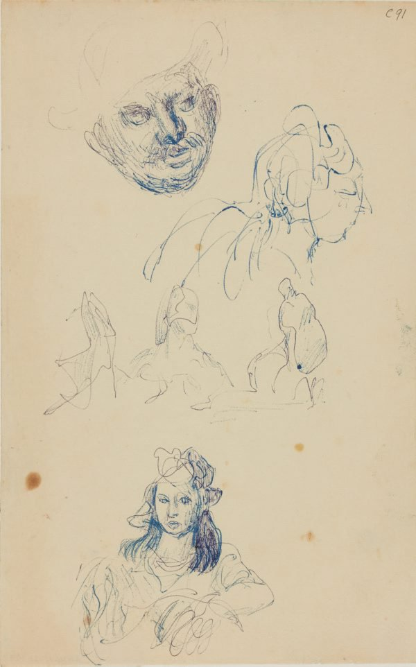 An image of (Head studies) (Early Sydney period)