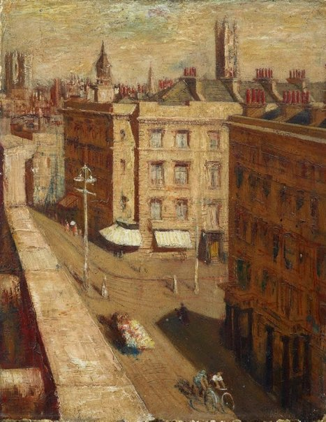 An image of Street scene, Pimlico by William Dobell