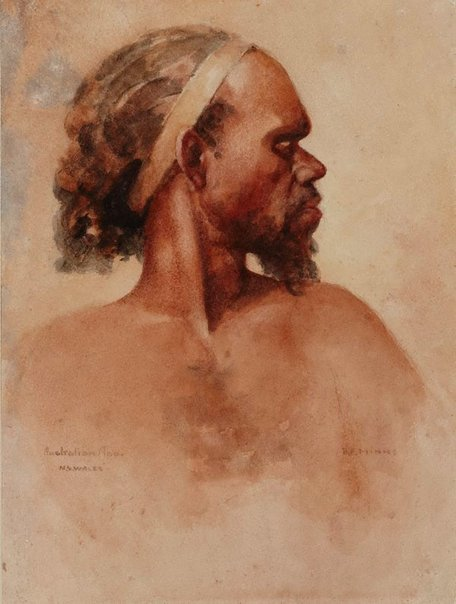 An image of Aboriginal man by BE Minns